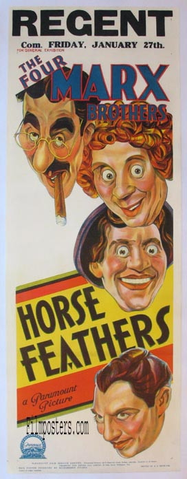 Horse Feathers (1932) Pris: USD 6.000:- (omkr. SEK 42.000:- )