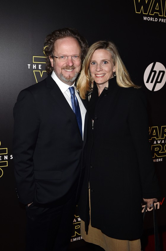 """HOLLYWOOD, CA - DECEMBER 14: AFI president and CEO Bob Gazzale (L) and Mimi Gazzale attend the World Premiere of """"Star Wars: The Force Awakens"""" at the Dolby, El Capitan, and TCL Theatres on December 14, 2015 in Hollywood, California.  (Photo by Kevin Winter/Getty Images for Disney) *** Local Caption *** Bob Gazzale;Mimi Gazzale"""