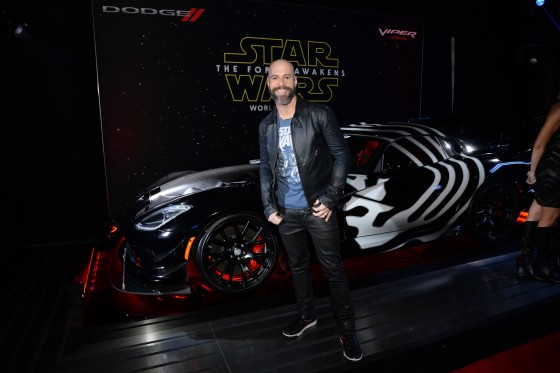 LOS ANGELES, CA - DECEMBER 14:  Recording artist Chris Daughtry arrives at the premiere of Walt Disney Pictures' and Lucasfilm's