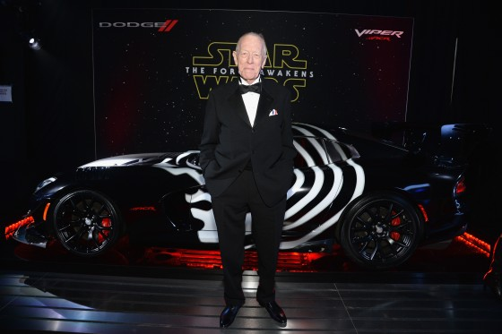 LOS ANGELES, CA - DECEMBER 14:  Actor Max von Sydow arrives at the premiere of Walt Disney Pictures' and Lucasfilm's