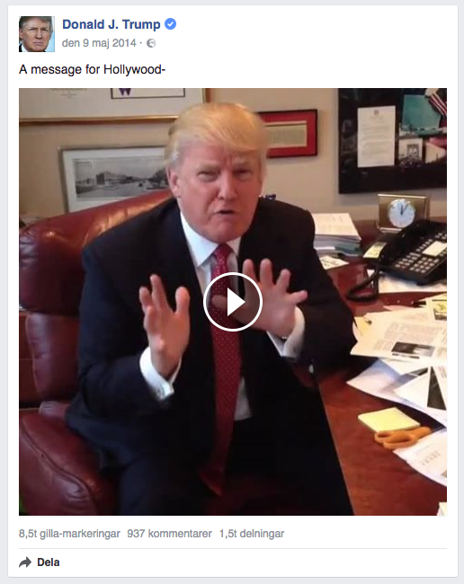 donald-trump-hollywood-facebook-meddelande